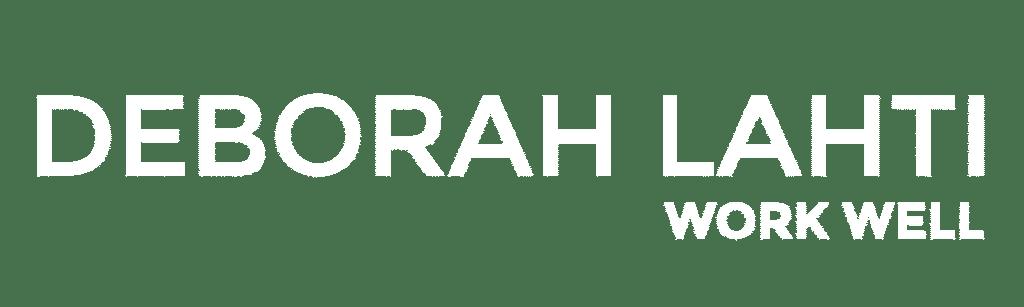 Deborah Lahti logo 2 white